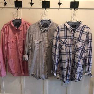 Men's American rag button ups long sleeve shirts